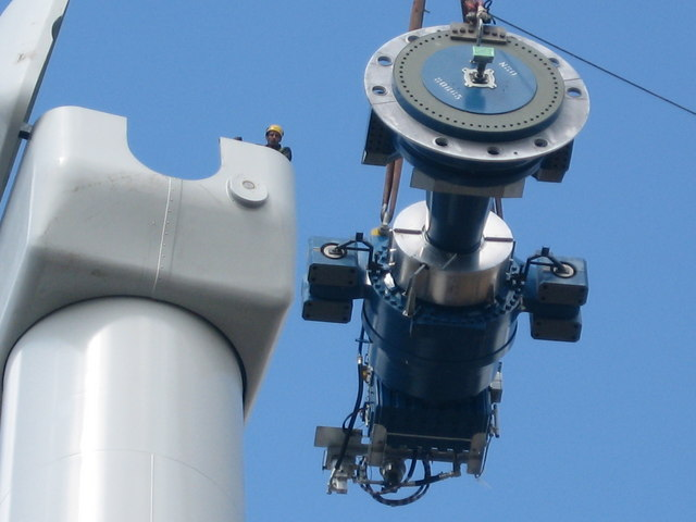 Gearbox , Rotor Shaft and Disk Brake Assembly: Scout Moor Wind Farm, by Paul Anderson