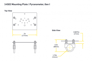 Mounting Plate | Pyranometer, Gen I